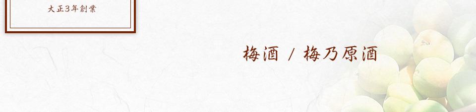 梅酒/梅乃原酒